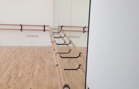 Dance Studio Mirrors with Ballet Rail
