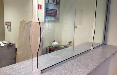 security screens and transaction slots