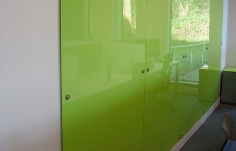 Green Glass Wall Panels