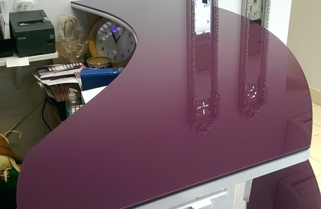 Puple Glass Counter Top
