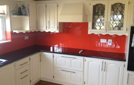 Red Kitchen Glass