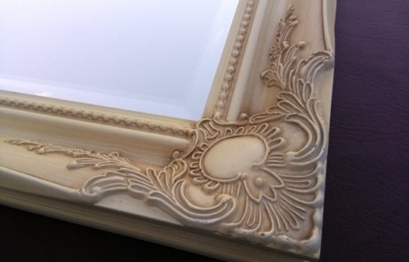 Ivory framed mirrors